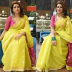 Adorable Way to Wear a Yellow Saree