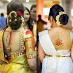 20+ Pretty Blouse Back Neck Designs With Stone Work