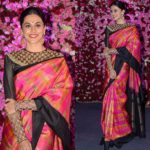 Tapsee Pannu Silk Saree Style is Epitome of Elegance