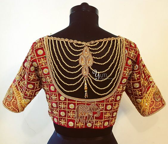 Creative Blouse Back Neck Designs