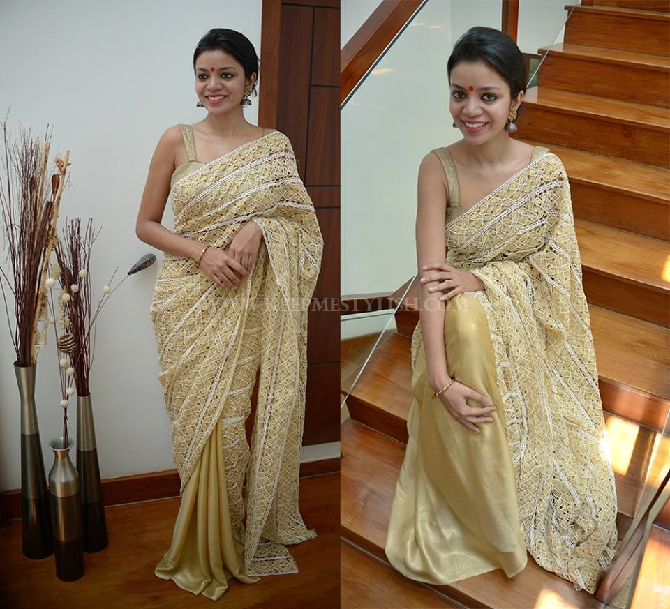 How To Wear Gold Blouse With Any Saree