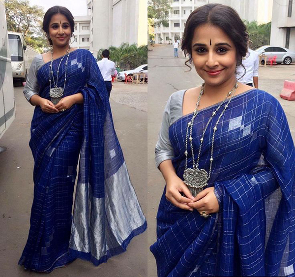 Matching Jewellery For Blue Saree