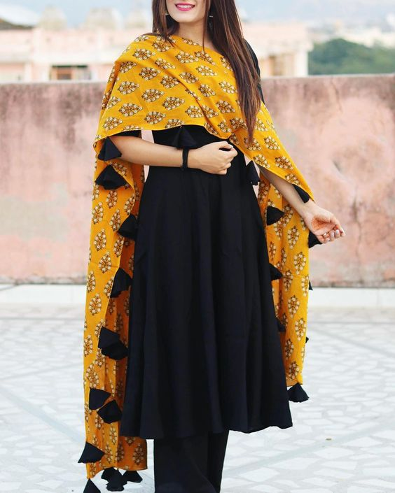 Plain Salwar And Heavy Dupatta Combinations