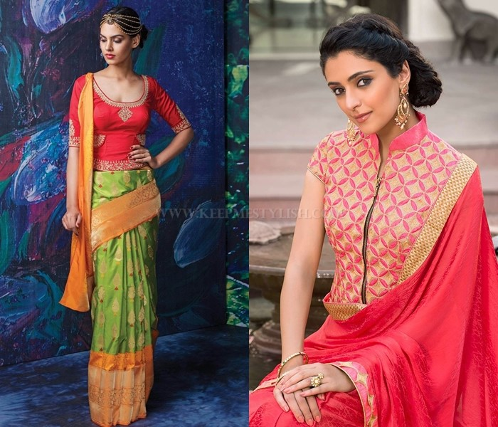 Saree Blouse Designs For Winters