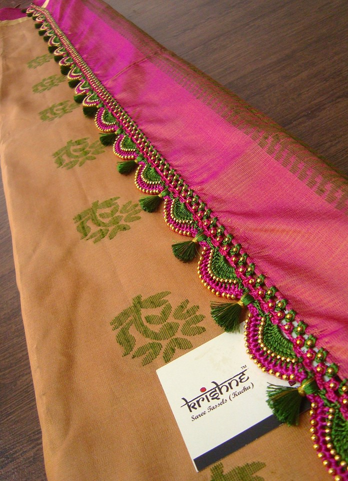 Silk Saree Tassel Work