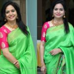 The Epic Color Combination to Look Bright on Green Sarees