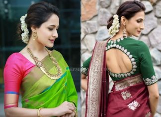 Saree Makeup And Hairstyle