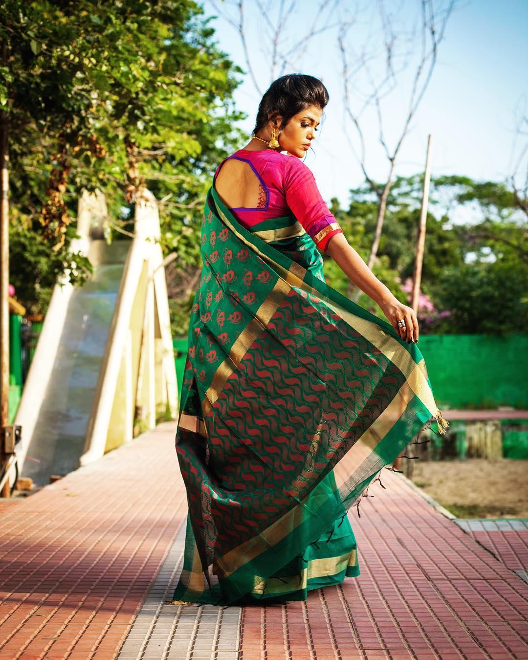 Hand Crafted Saree Designs