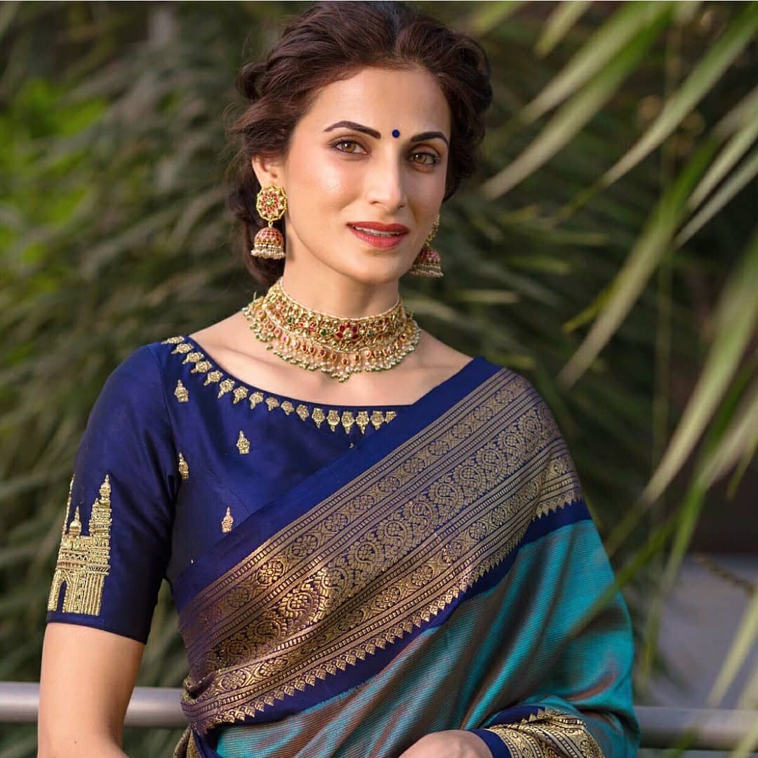 Designer Saree Blouse Neck Patterns