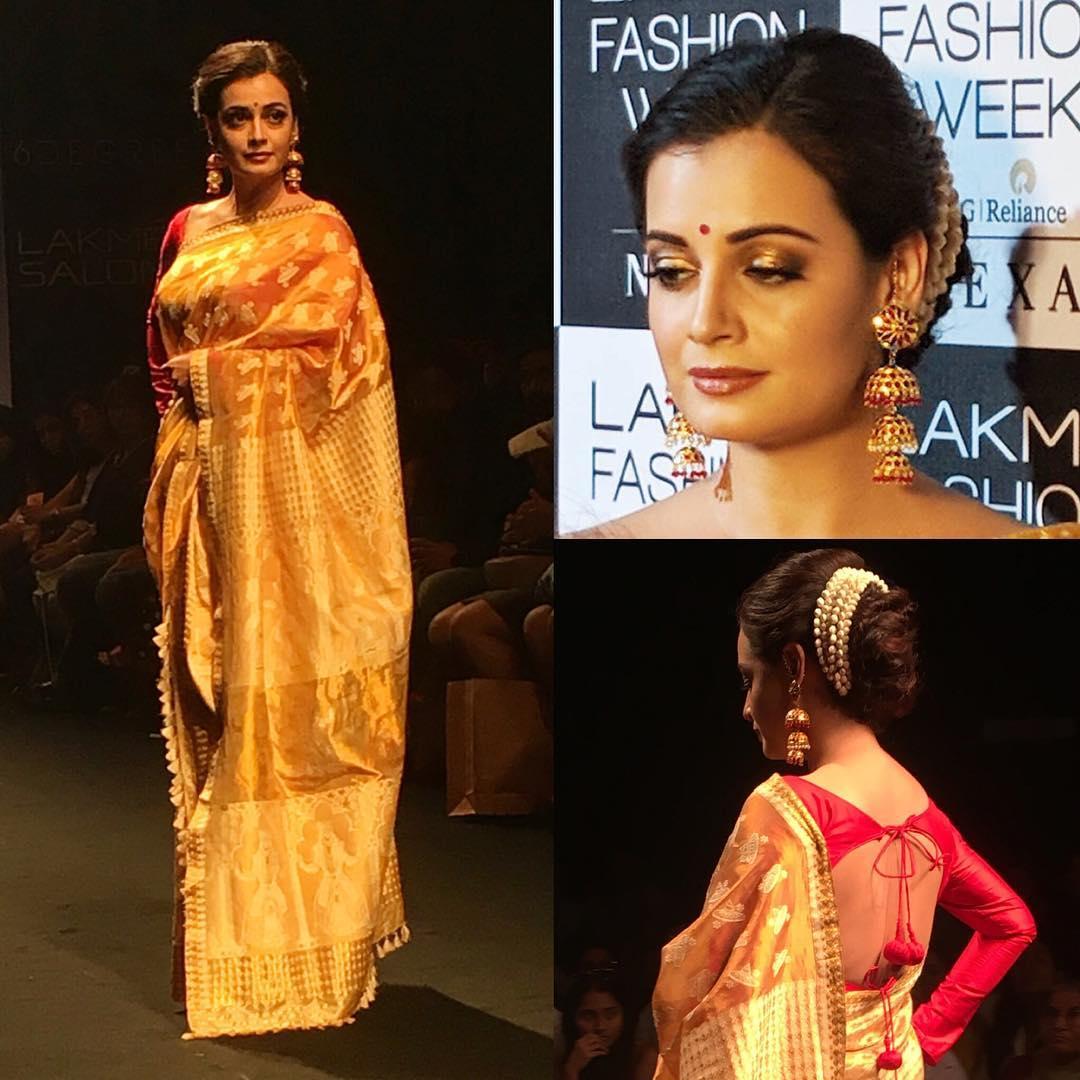 How To Wear Gold Silk Saree
