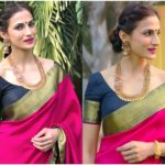 The Easy Makeup Idea To Rock Your Pink Silk Saree