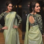 10 New Ways To Wear Plain Georgette Sarees With Designer Blouse