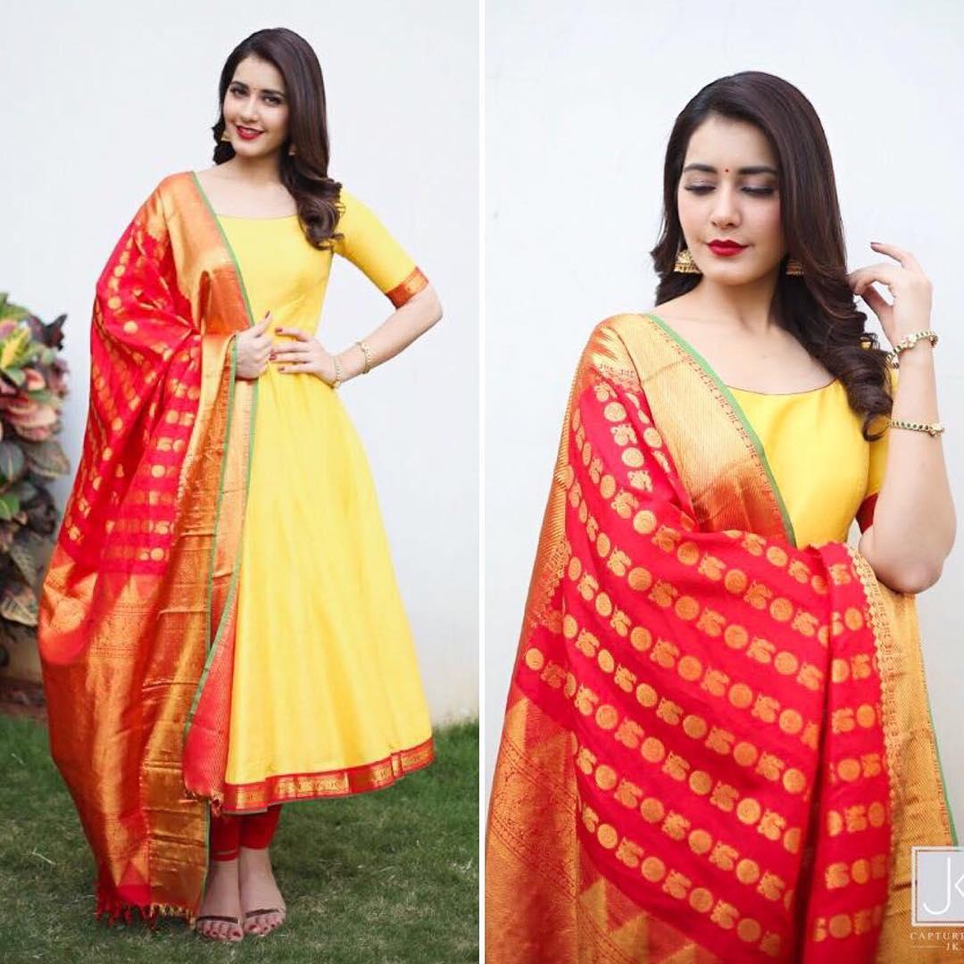 Raashi Khanna Anarkali Style
