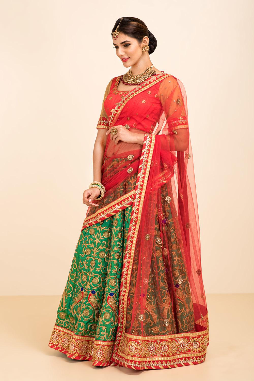 half saree hairstyle ideas