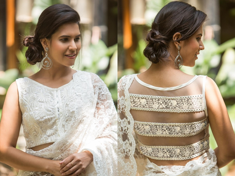 lace blouse designs for sarees