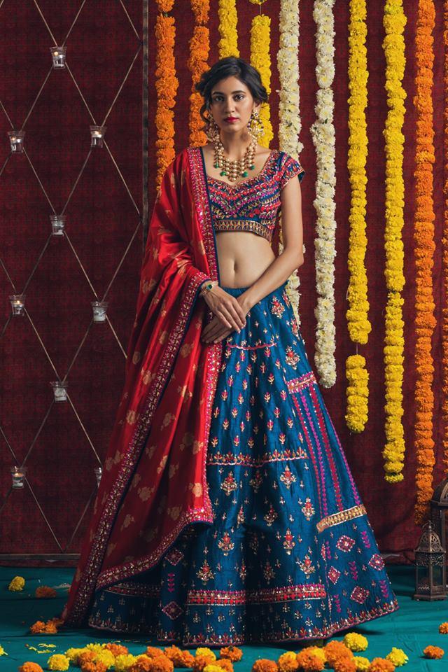 modern half sarees