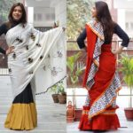 Shop This Colorful Ruffle Sarees From Rust Orange