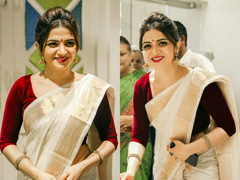 simple saree makeup