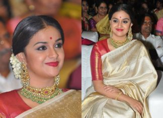 Celebrities hairstyle for sarees