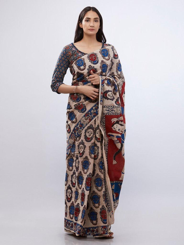 Designer Kalamkari Sarees