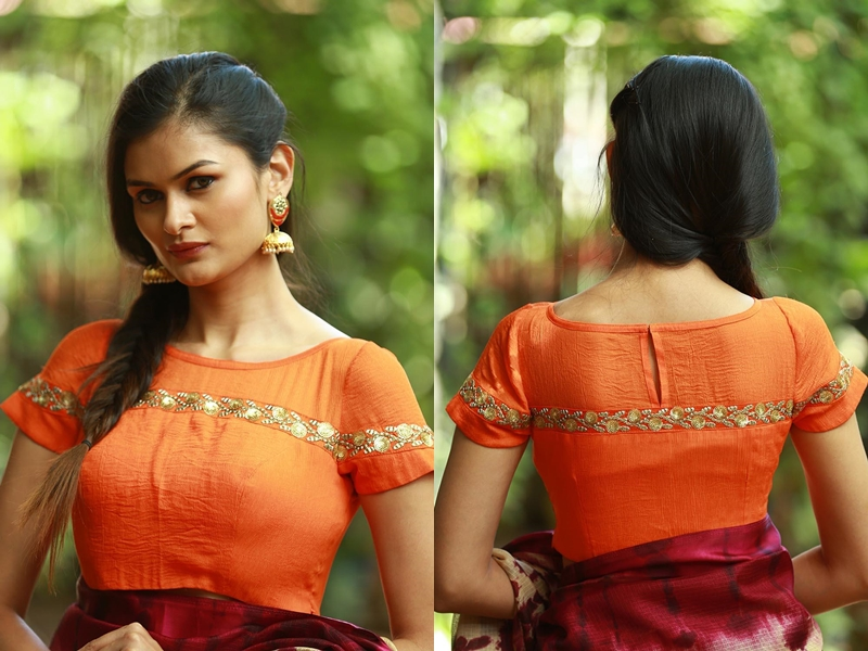 full neck blouse designs