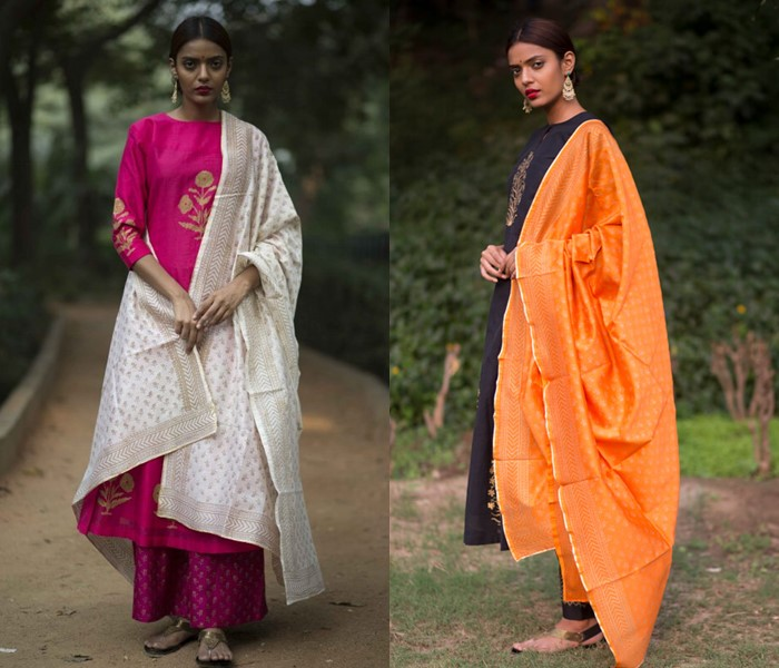 latest dupattas for salwars