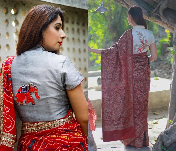 stylish saree blouses online