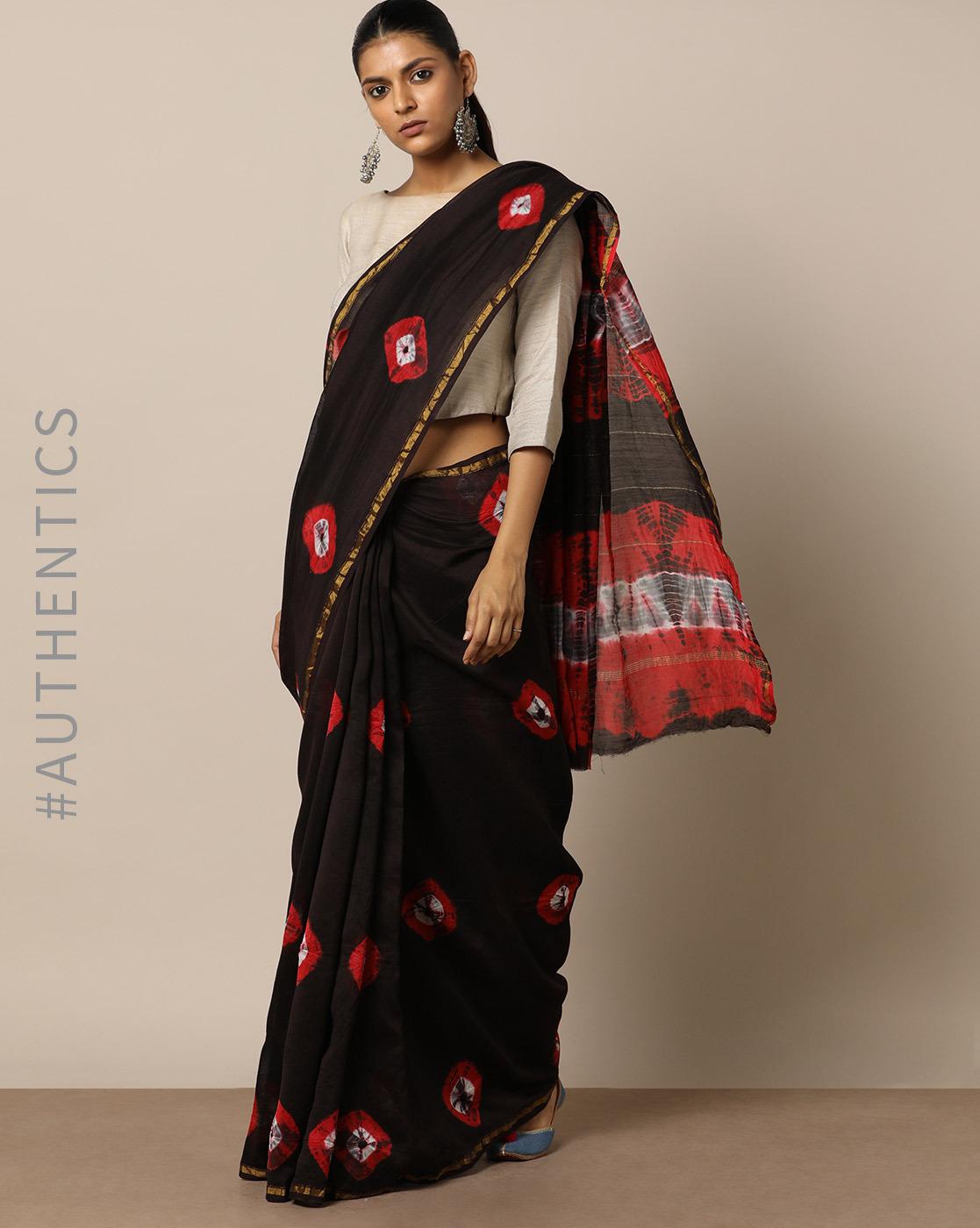 stylish shibori sarees