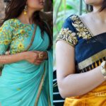Style Plain Saree with Embroidery Blouse – 17 Chic Ideas!