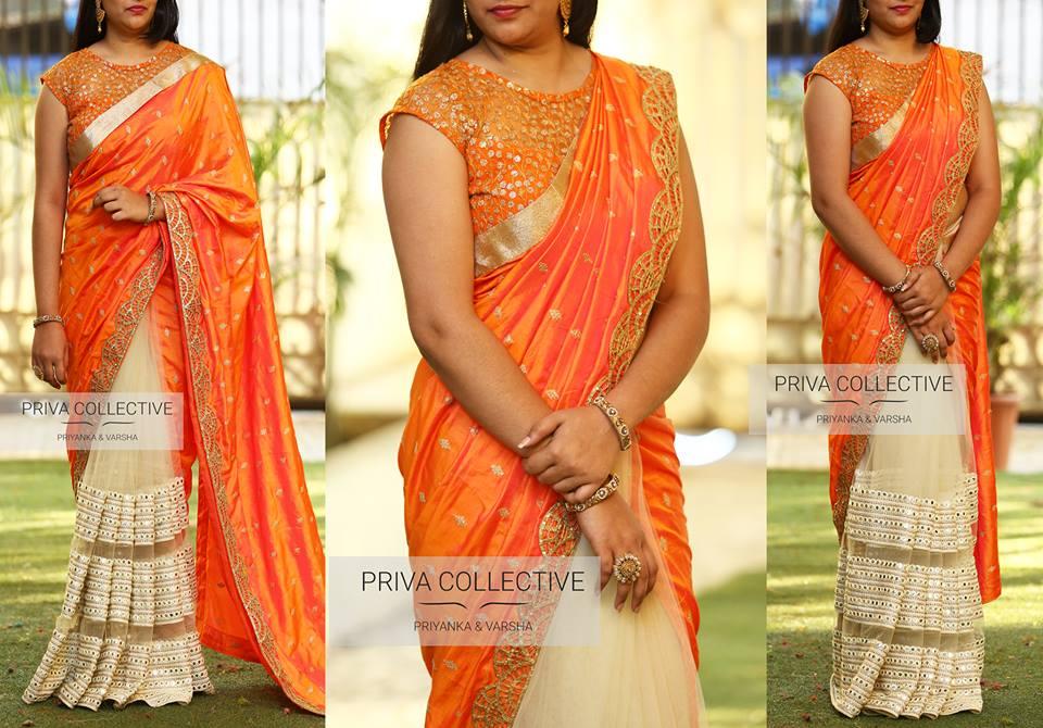 high neck blouse designs for silk sarees