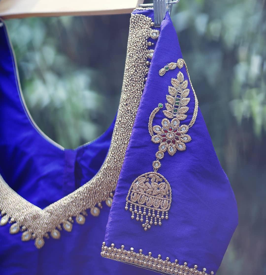 beautiful silk saree blouses ekanta