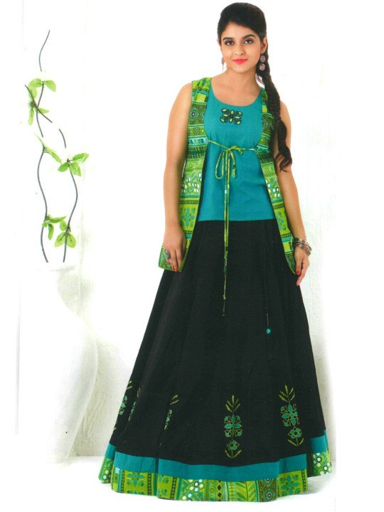 long skirt and tops designs