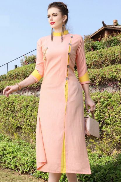 Stand Collar Designs For Kurti : Trendy neck designs to try with plain kurtis u keep me stylish
