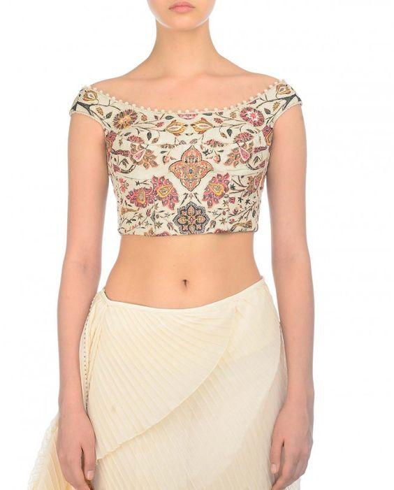 Off-shoulder-blouse-designs (1) • Keep Me Stylish