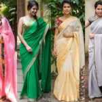 Plain Sarees With Designer Blouse – 40+ Creative Ideas