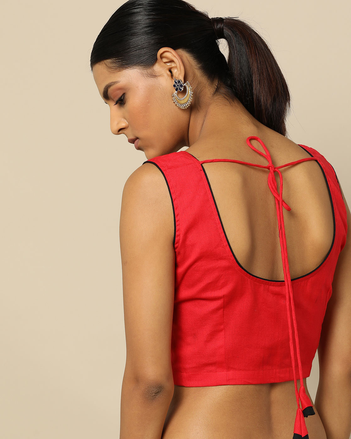 simple blouse back neck designs