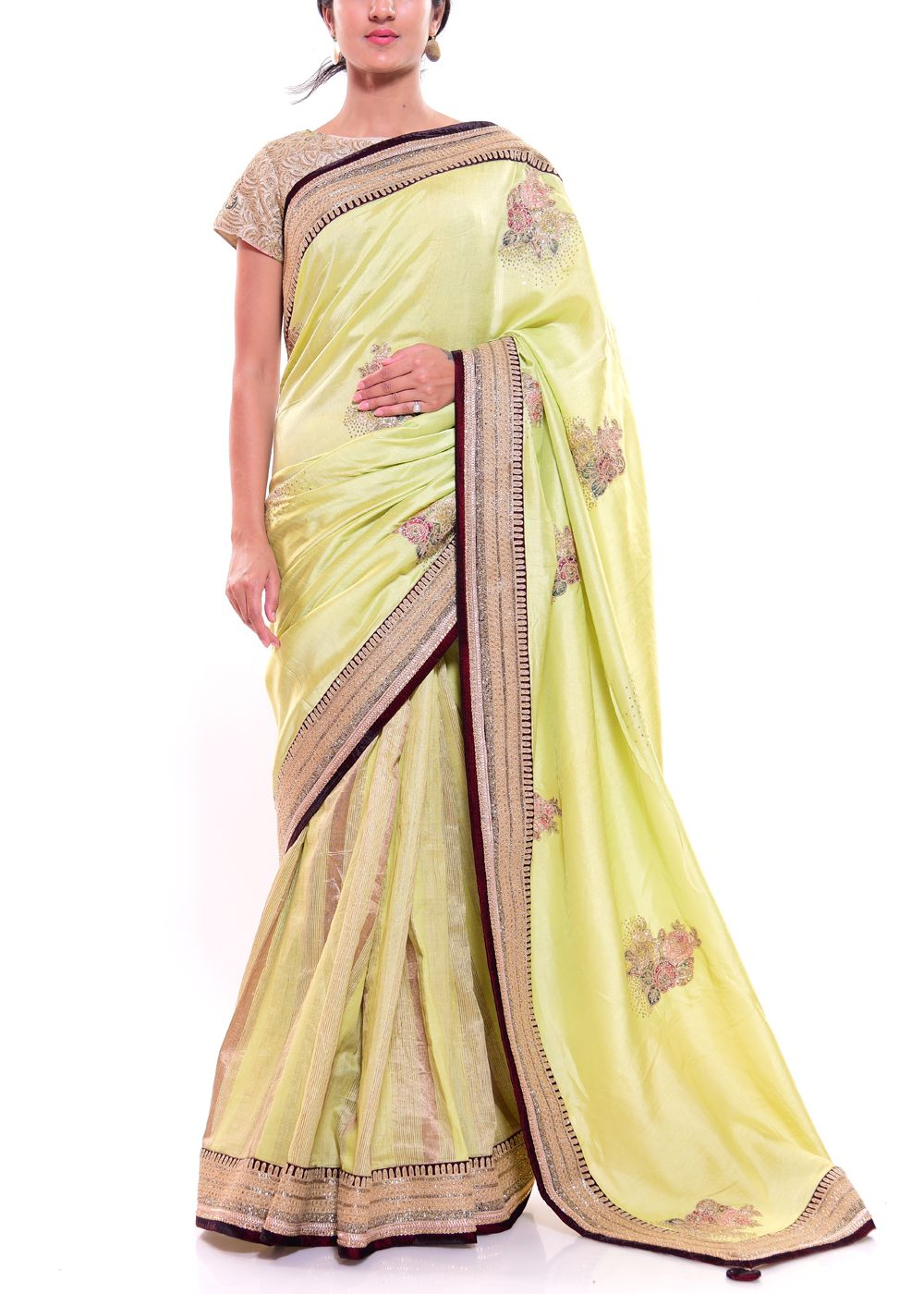 simple designer saree
