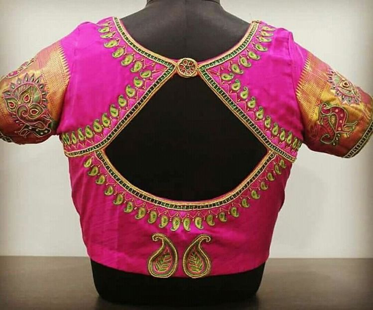 Ultimate Blouse Back Neck Designs Catalogue 30 Ideas Keep Me
