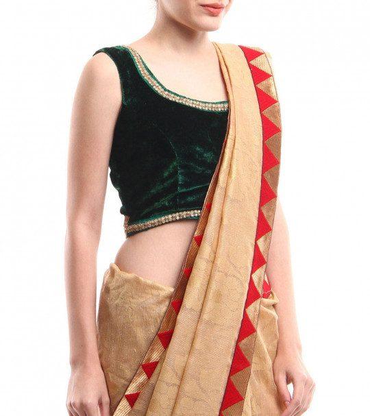 Velvet blouse designs