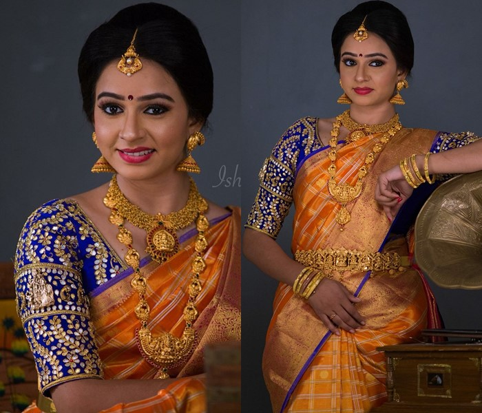 bridal silk saree blouses