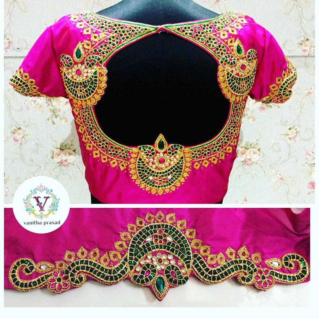 mindblowing blouse designs for wedding silk sarees