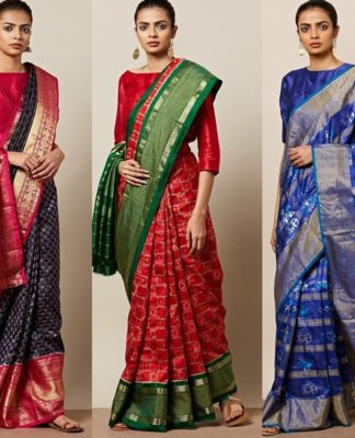 silk saree collections ajio featured