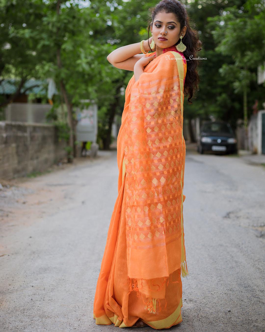 soft cotton saree navgraha