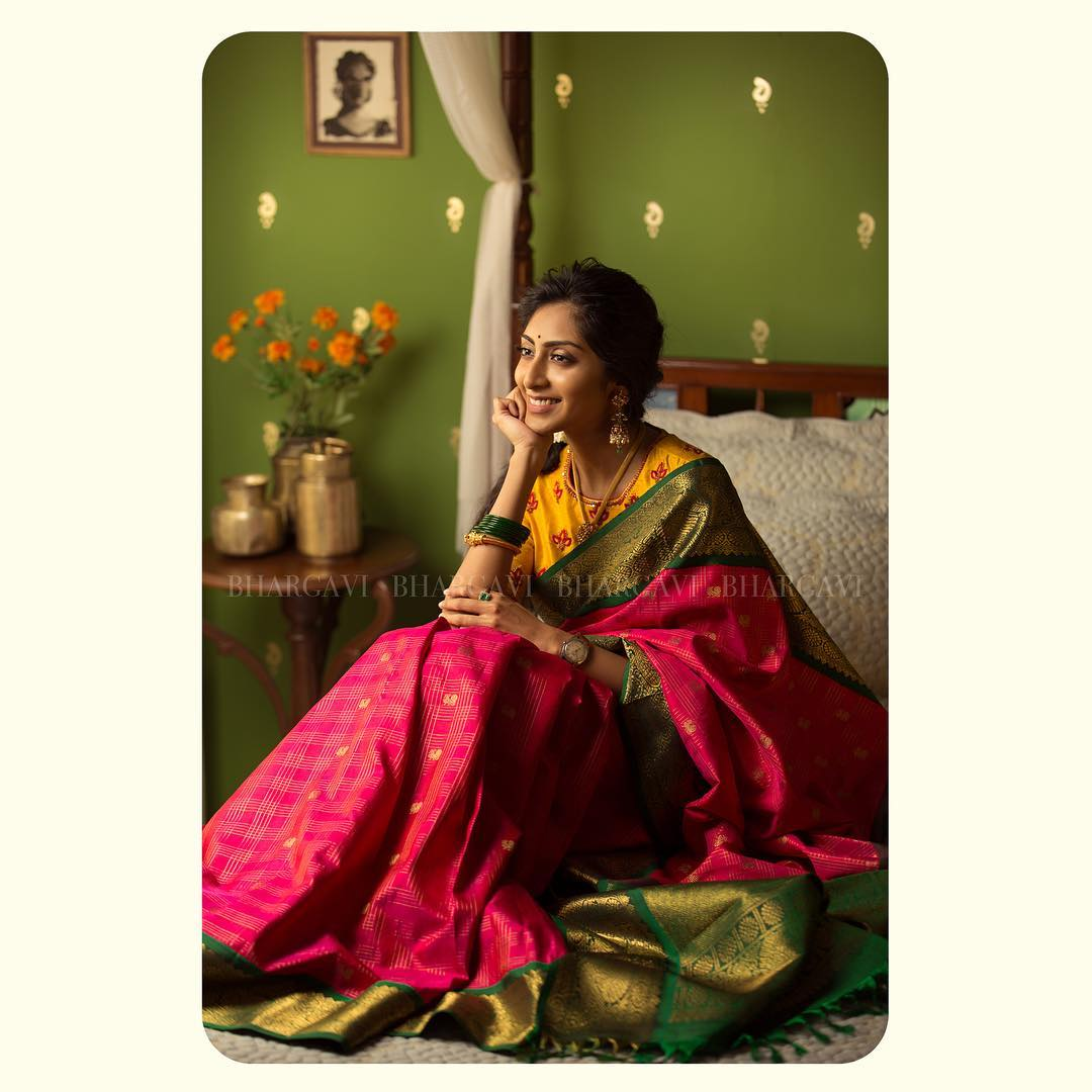 classic silk saree shades