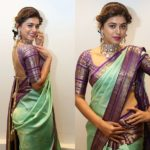15 Chic Contrasting Blouse Colours To Wear With Green Sarees