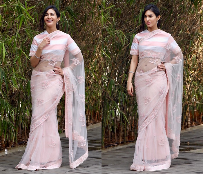 how to make net sarees less transparent