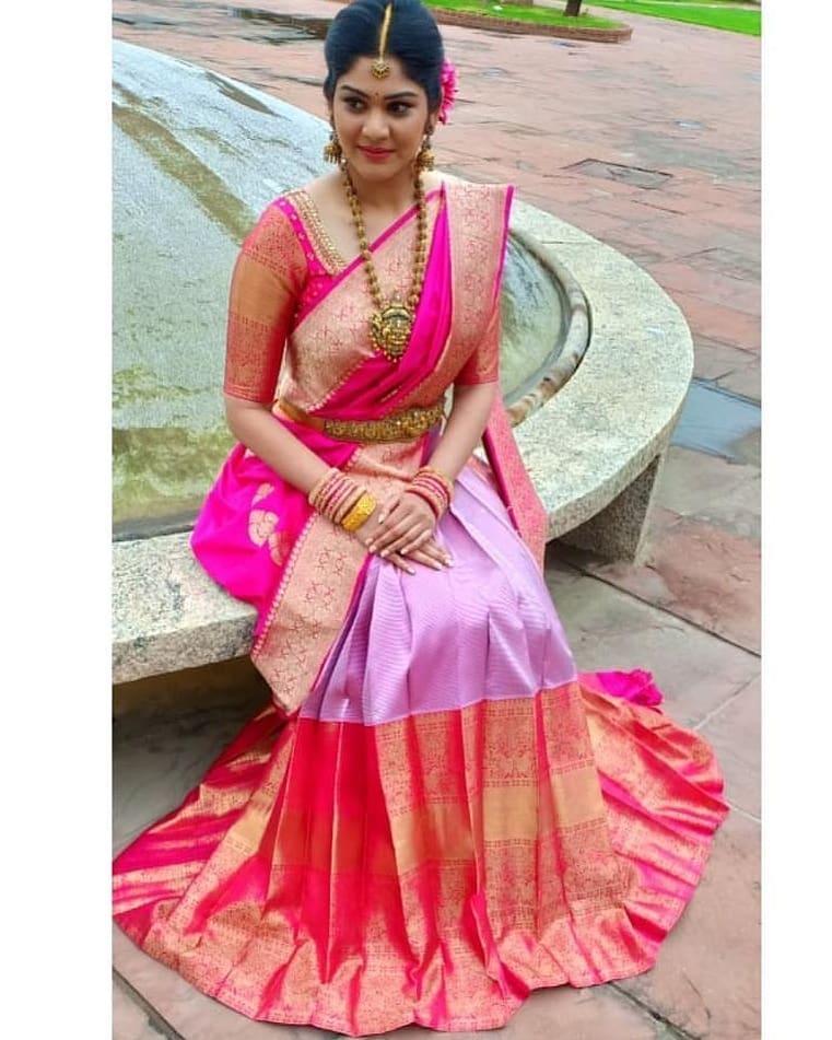 pink wedding sarees