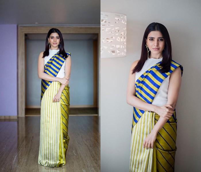 samantha in saree 2018