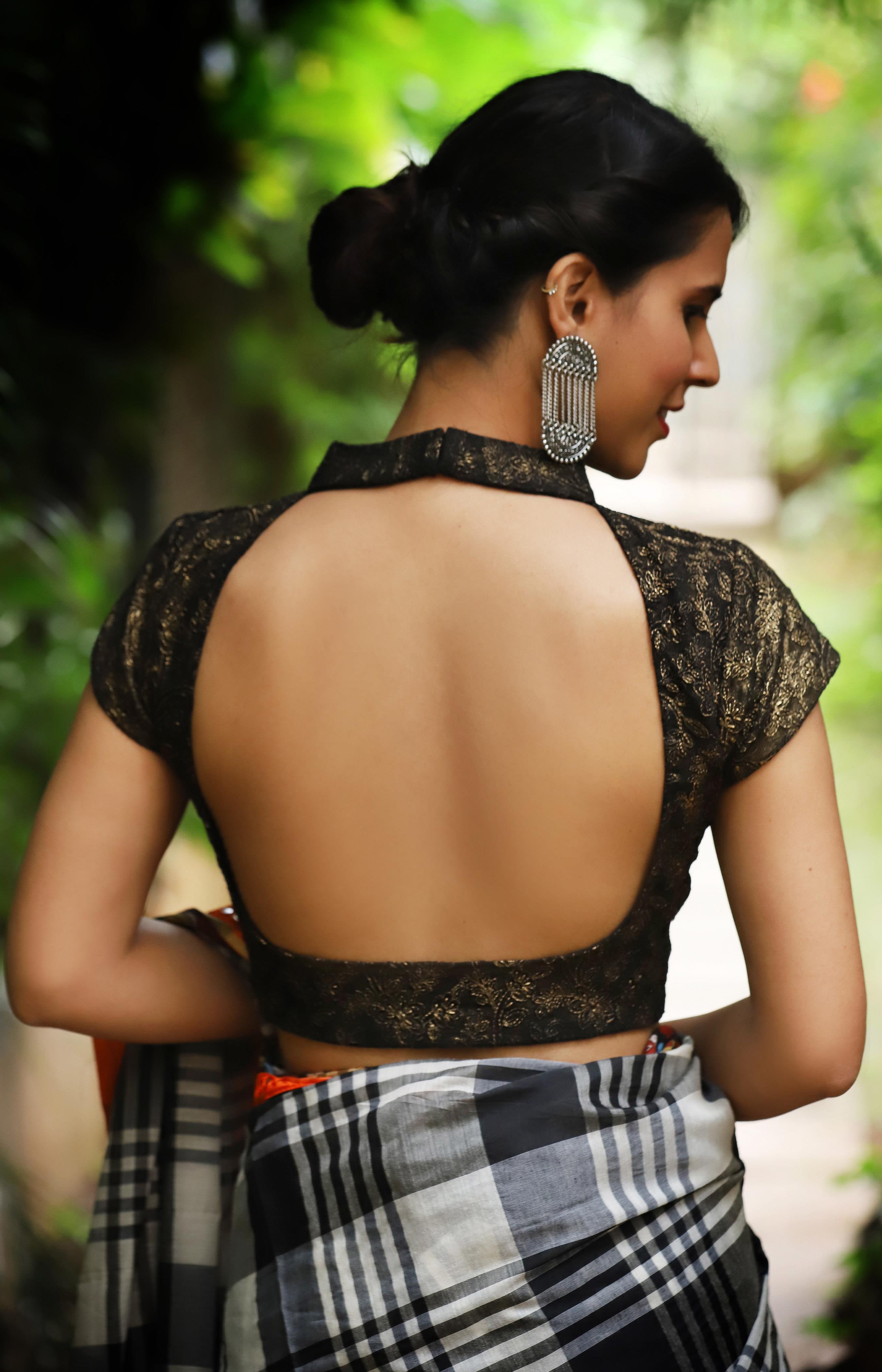 black blouse designs