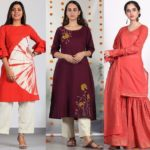 Super Stylish & Also Highly Affordable Kurtas From Rust Orange